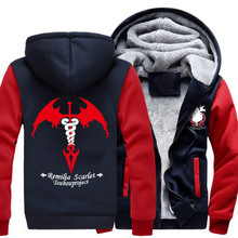 New Winter Jackets and Coats Touhou Project hoodie Anime Remilia Scarlet Flandre Scarlet Hooded Thick Zipper Men Sweatshirts