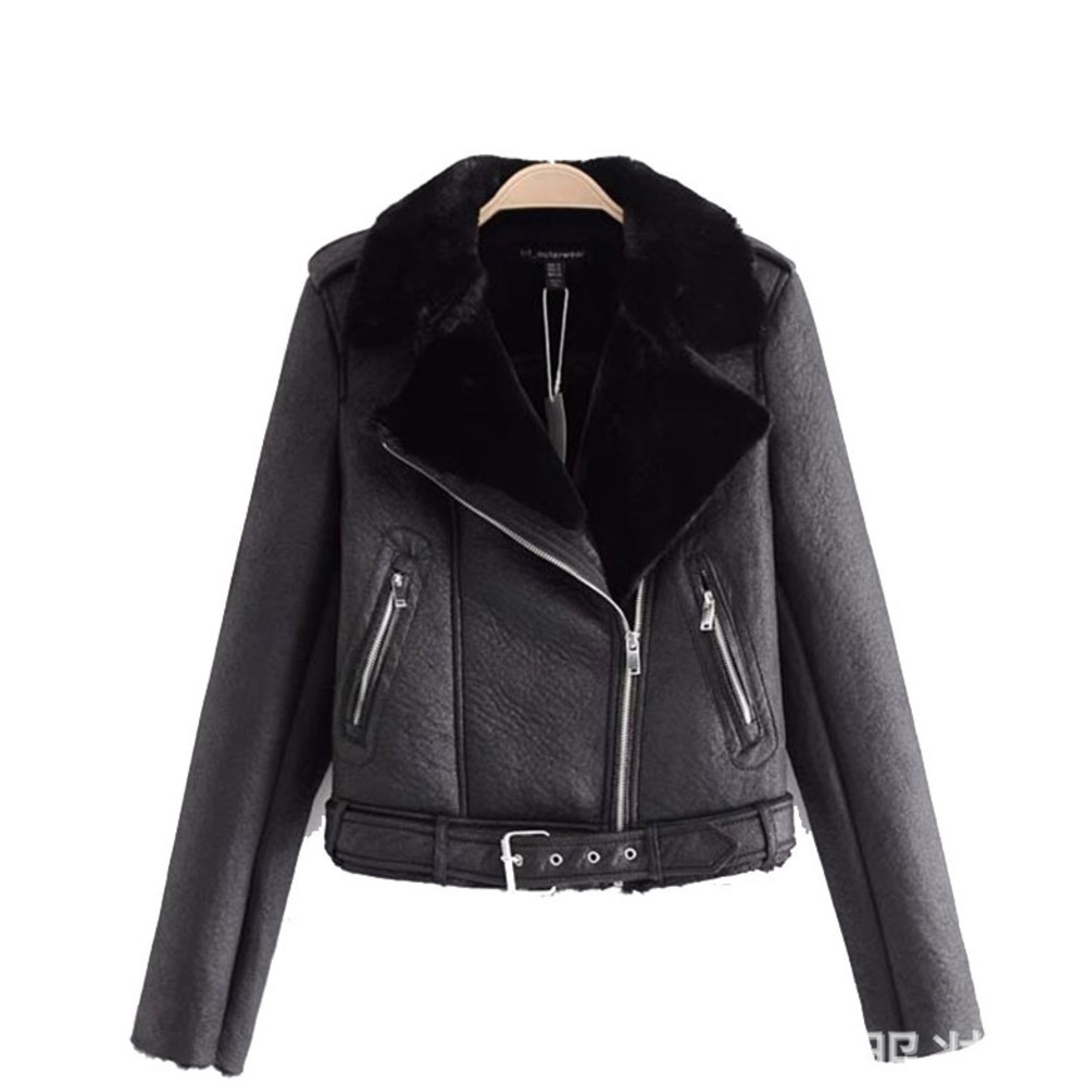 High Quality A Generation Of Winter ZA Fur Women's Short Faux Fur Coat Thickening Warm Soft Leather Jacket Women's Jacket