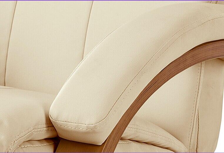 Moderne Swivel Stoel Lederen Gestoffeerde Chaise Lounge met ...