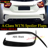2pcs Car Gloss Black Abs Rear Bumper Splitter Spoilers Canard for Mercedes for Benz W176 Sports A180 A200 A250 A45 For AMG 13 18