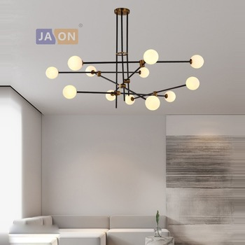 g9 led Postmodern Iron Glass Black White Chandelier Chandelier Lighting LED Lamp LED Light For Dinning Room Foyer