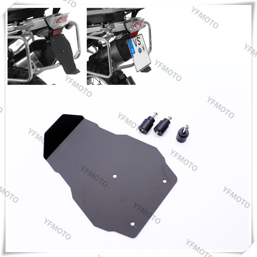 ФОТО Motorcycle Aluminium Number Plate Splash Guard License Plate Holder For BMW R1200GS LC 2013-2016, R1200GS Adventure LC 2014-2016