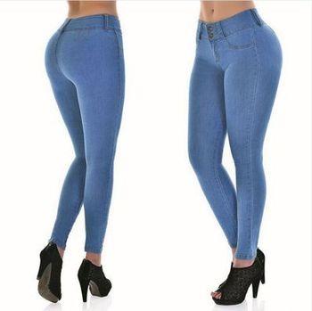 2018 Spring Jeans For Women Slim Skinny Bodycon Denim Jean Pantalon Femme Pencil Pants Plus Size S-XXL 1