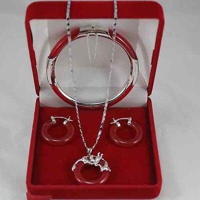 Véritable pendentif en pierre naturelle collier boucle d'oreille bracelet ensemble>> * plaqué montre en gros Quartz pierre CZ cristal