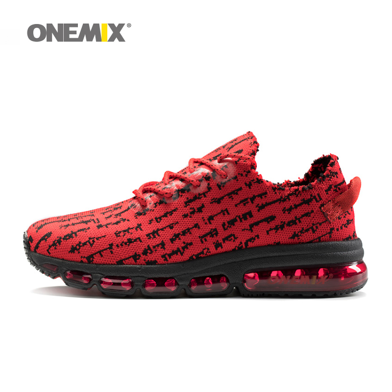 Onemix men's running shoes women sneakers lightweight knit mesh vamp sneakers damping cushion for outdoor jogging walking shoes longbo men military watches complex big dial leather strap wristwatch male outdoor sports quartz watch life waterproof uhren men