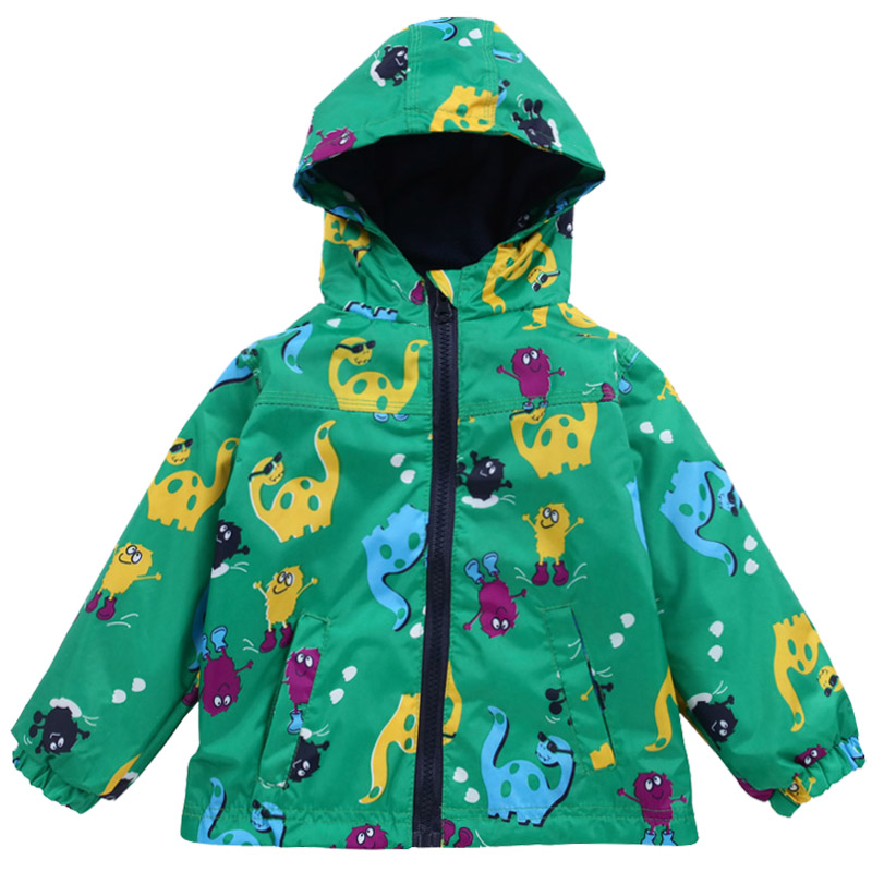 Children Clothing 2018 Spring Autumn Boys Sweater Jackets For Kids Dinosaur Print Outerwear For Boys Waterproof Raincoat Coats