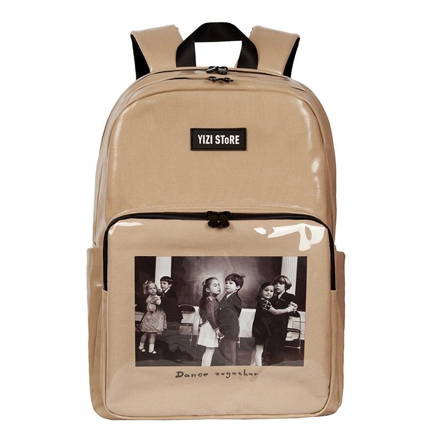 2019 nowy oryginalny wodoodporna o dużej pojemności torby szkolne drukowane podróży plecaki dla chłopców i dziewcząt w zdjęcia seria 2 (zabawy KIK) w Plecaki od Bagaże i torby na  Grupa 2