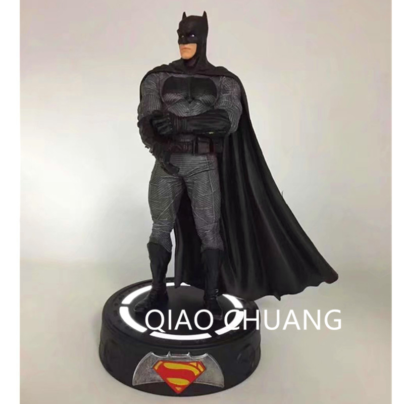 NEW 22CM Batman V Superman Dawn Of Justice Batman Statue With LED Light PVC Action Figure Collectible Model Toy RETAIL BOX G1 fire toy deadpool pvc action figure collectible model toy 10 27cm retail box wu124