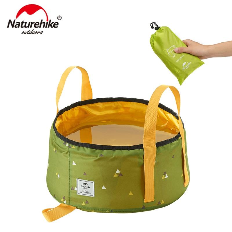 NatureHike Portable Outdoor Travel Folding Water Bucket Wash Basin For Camping Hiking Picnic NH18L010-P