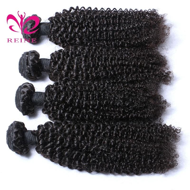 Brasilianska Kinky Curly Hair Weave Bundles Naturlig Svart Färg 4 - Mänskligt hår (svart) - Foto 4