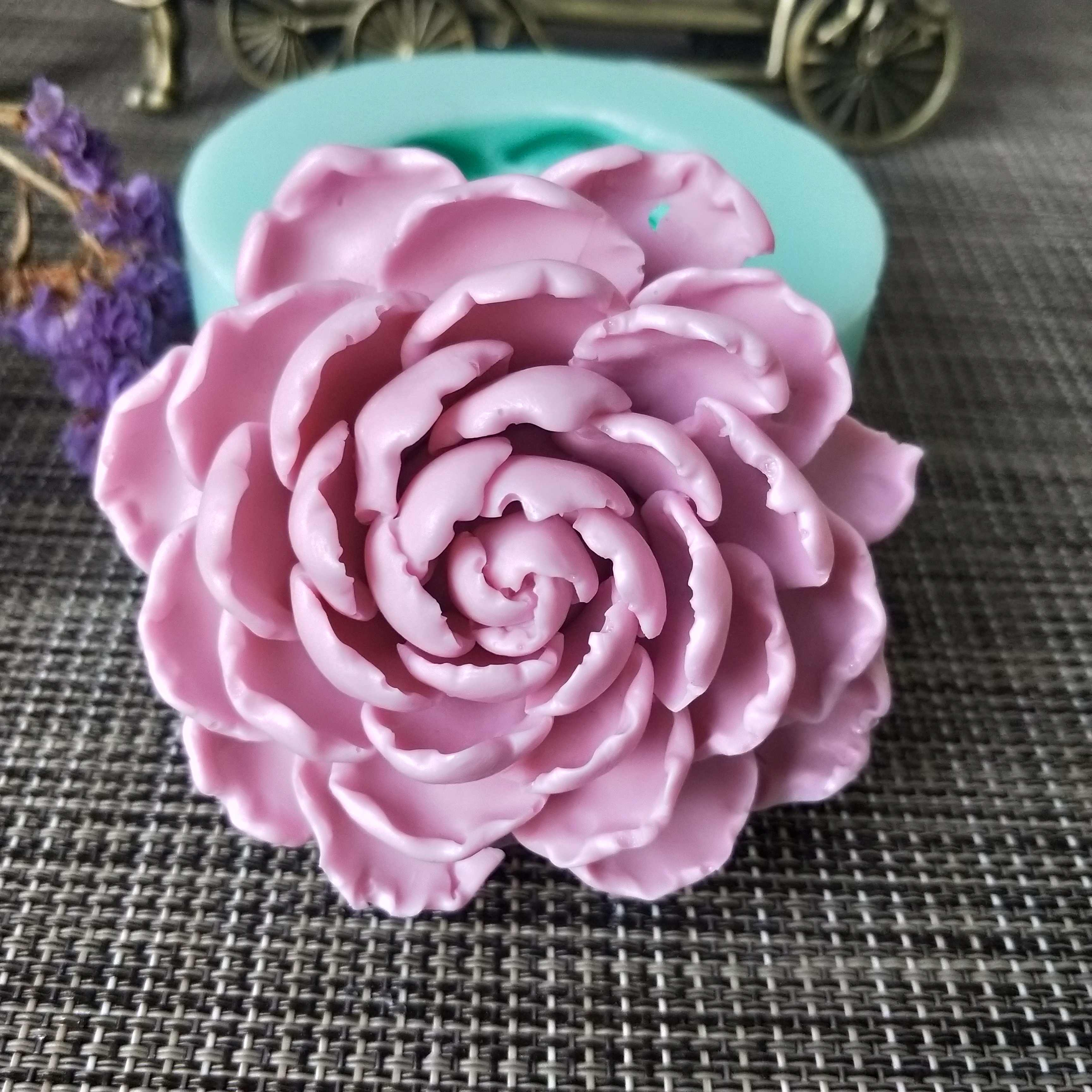 Silicone MP soap mold 3D Blooming Chrysanthemum Silicone Mold