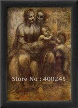 High quality women paintings of Leonardo da vinci reproduction The Virgin and Child with St. Anne Hand painted Canvas art