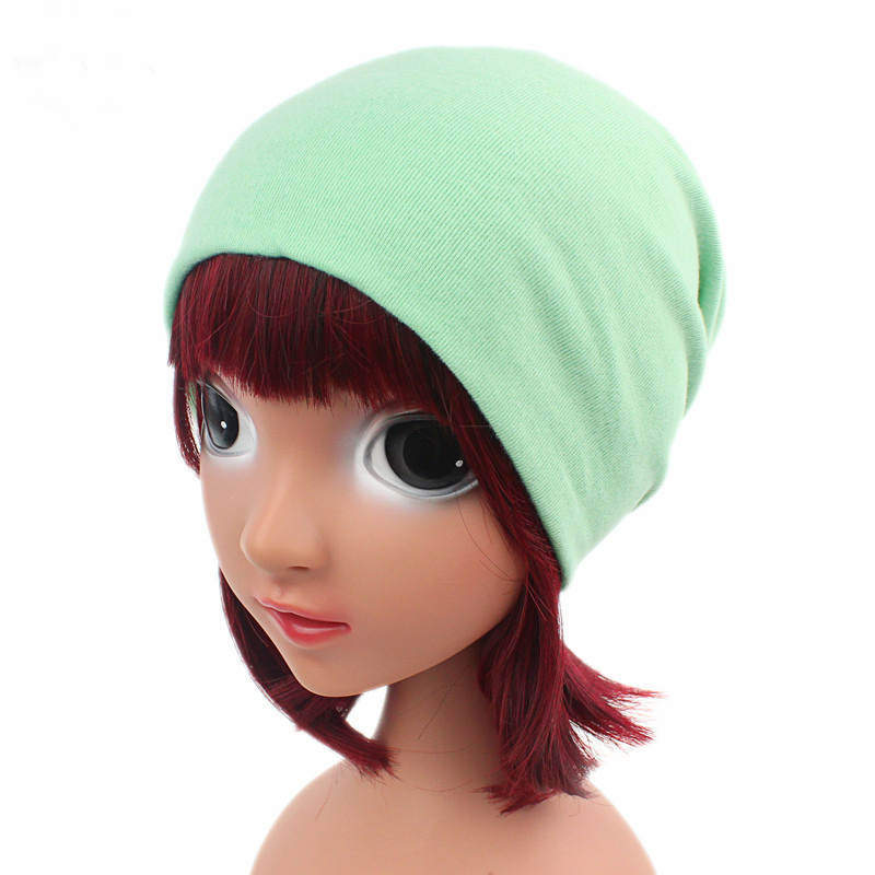 Candy Color Kid Hat Skullies Beanies Imitation Cashmere Knitted Hats Beanie Hat Spring Casual Children Beanies Hats Protect Ear