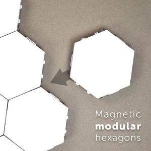 Image 3 - DIY Quantum Lamp Modular Touch Lights Hexagonal Lamp LED Night Light Magnetic Hexagons Creative Decoration Wall Lampara