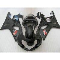 ABS bodywork set for SUZUKI K2 00 01 02 GSXR 1000 fairings GSX R1000 2000 2001 2002 all glossy black fairing kit LR5
