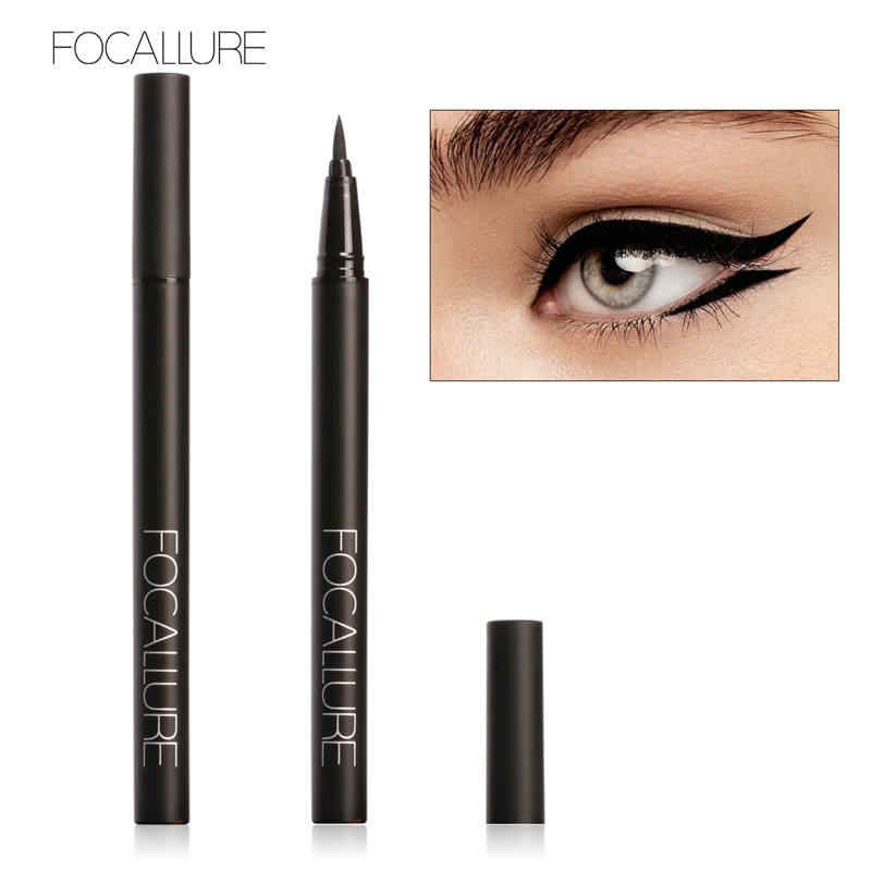 Focallure Hitam Eyeliner Cair Tahan Air Cepat Kering Eyeliner Pensil Mata Natural Make Up Kosmetik