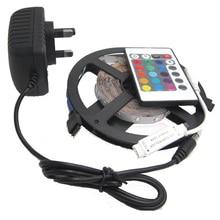 5M 2835 No Waterproof LED Strip 300 leds 5m 2835 rgb led 24keys MINI controller 12v2a