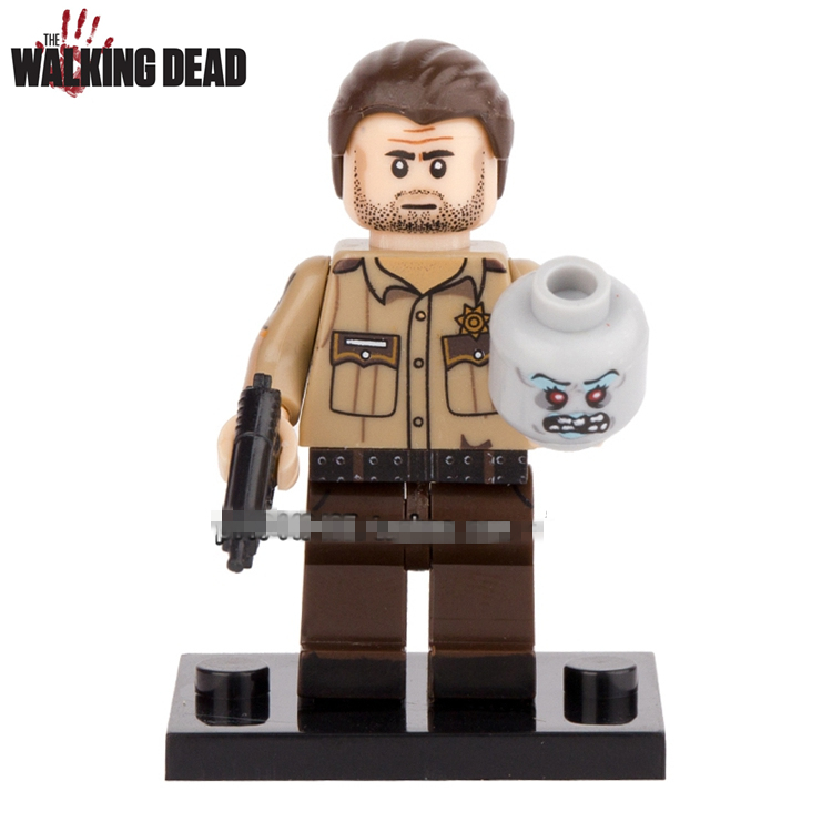 Single Sale AMC TV Show The Walking Dead Rick Grimes Carol Carl Daryl Assemble Minifig Action Figures Blocks Kids Toys Gifts