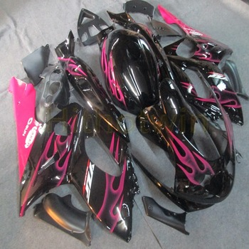 Custom motorcycle fairing for YZF600R 1997 1998 1999 2000 2001 2002 2003 2004 2005 Thundercat+Gifts+pink flames