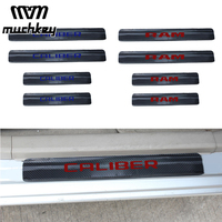 For Dodge Caliber Charger Dart RAM Car Door Sill Scuff Plate Welcome Pedal Carbon Fibre Car