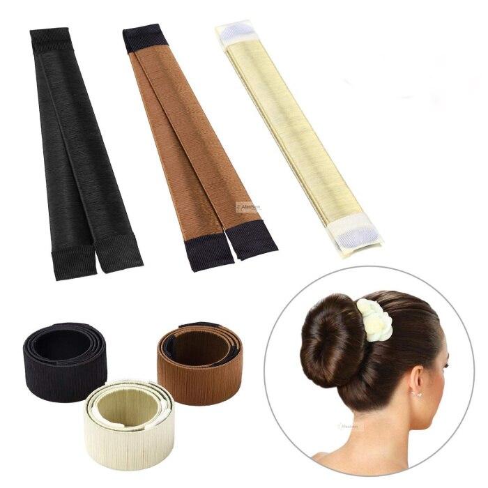 1 pc magique cheveux chignon fabricant beignet bricolage bigoudi rouleau français cheveux torsion tresse beignets accessoires cheveux style outils