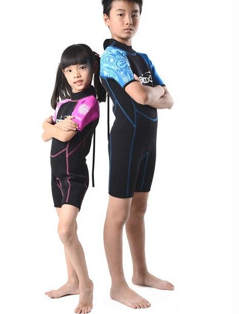 SLINX 1302 2mm Néoprène Enfants Plongée sous-marine Costume De Natation Maillots De Bain Kite Surf Sports Nautiques Plongée En Apnée Nautique Kid'S Combinaison - 6