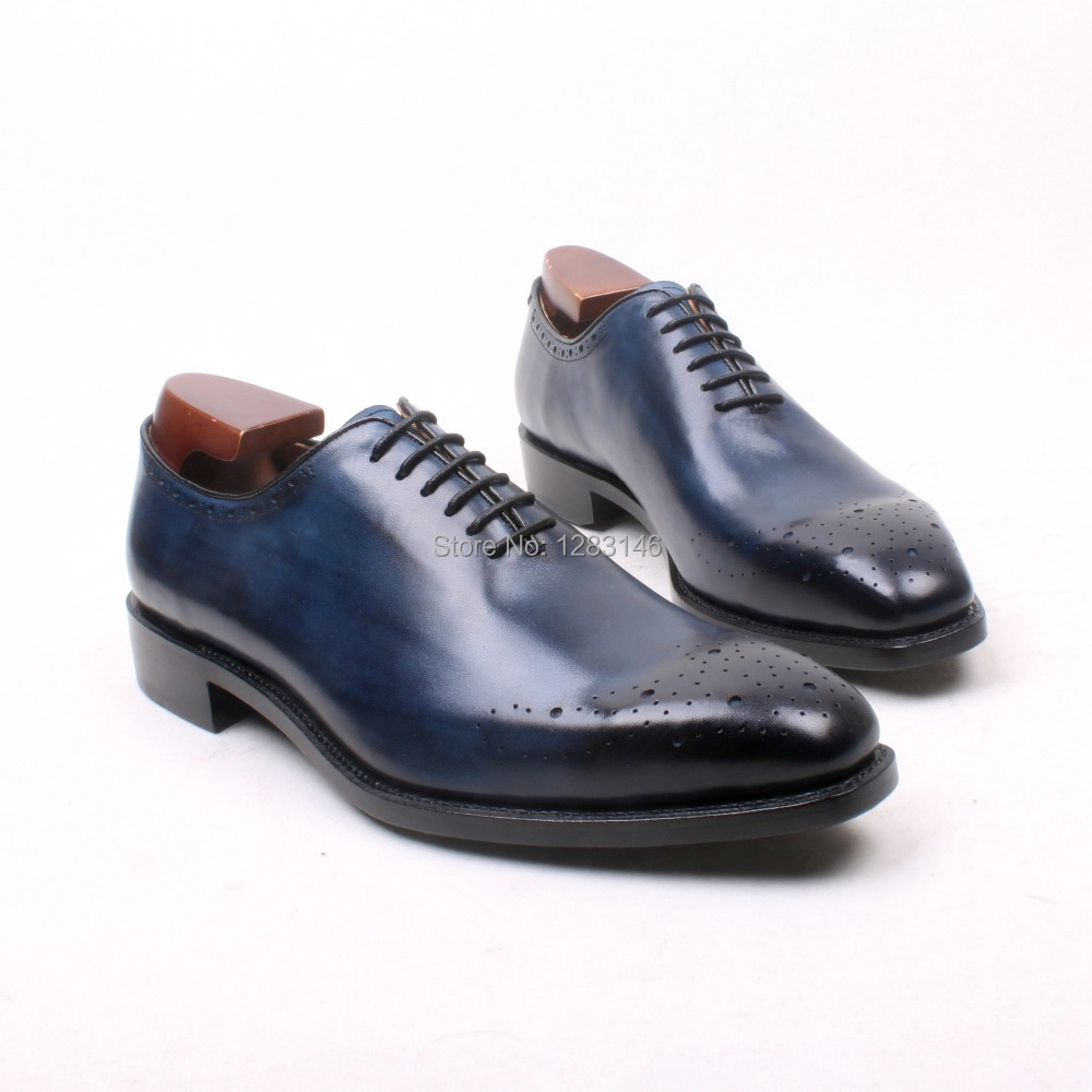 obbilly Handmade Genuine Leather Upper/outsole/Insole Navy Color Goodyear Craft Square  toe Men's Classic Shoe No.ox633 obbilly handmade genuine leather upper outsole insole navy color goodyear craft square toe men s classic shoe no ox633
