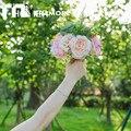 2016 Романтический Пляж Искусственный Цветок Свадебные Букеты Для Невест Невесты Руки с Цветами в Руках Свадебный Букет Де Mariage