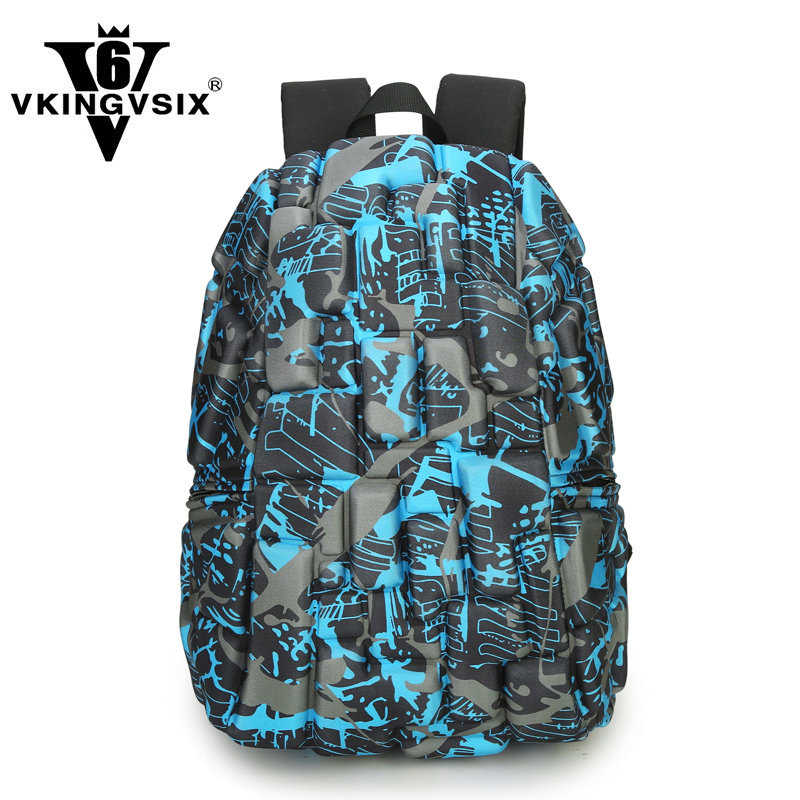 VKINGVSIXV6 School Backpack High Quality Oxford 3d School Bags Large Capacity 15 inch Laptop Computer Bag Men Travel Backpack jacodel unisex large capacity backpack for 15 6 inch laptop bag for dell asus 15 6 men 15 6 girls travel back pack school bags