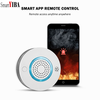 SmartYIBA Smart Wireless WIFI+APP Fire Smoke & Temperature Sensor Wireless Smoke Temperature Detector Home Security Alarm System