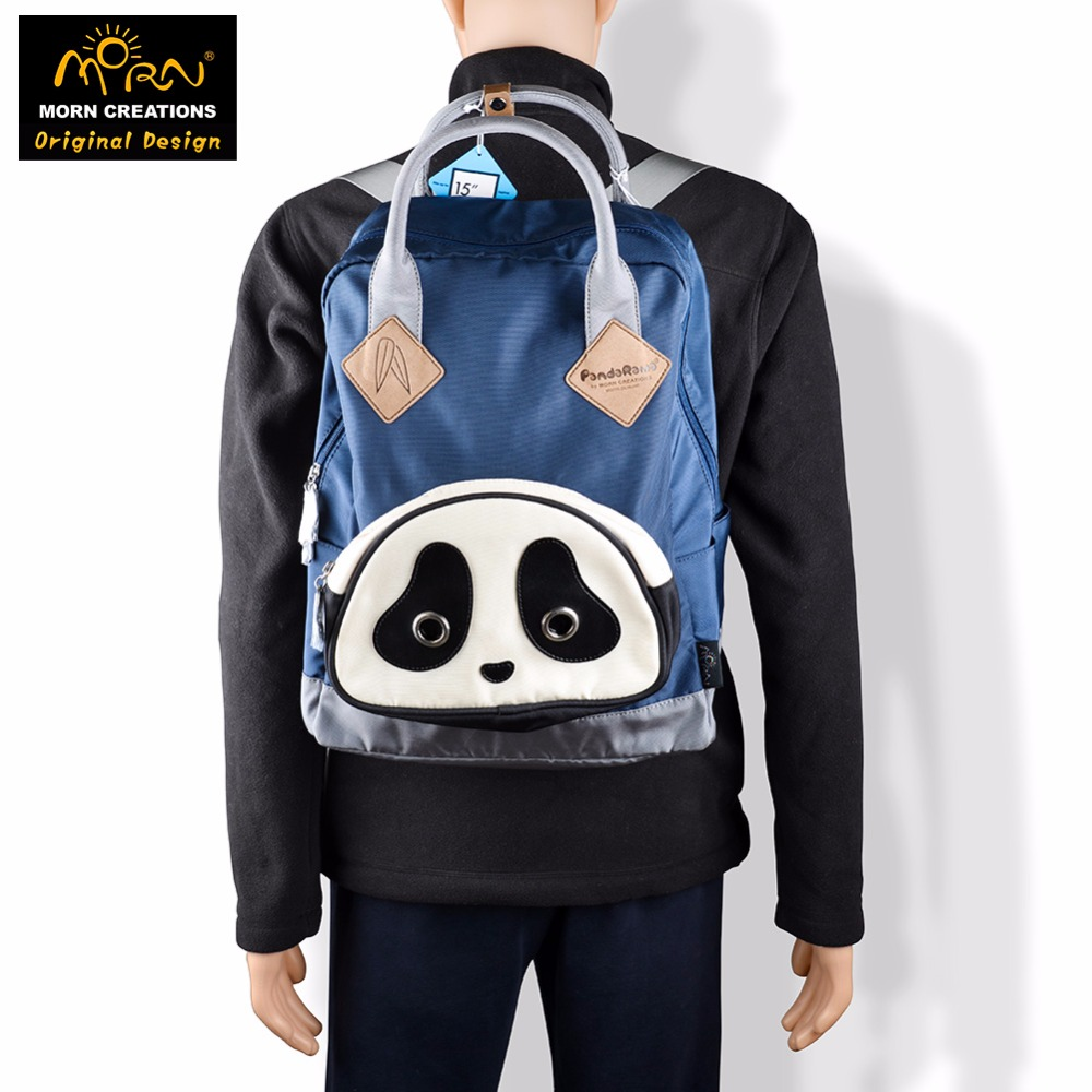 Morn Creations Hong Kong Original Design Soft Handle Panda Backpack Blue Laptop School Bags mavala pearl mini colors 019 цвет 019 hong kong