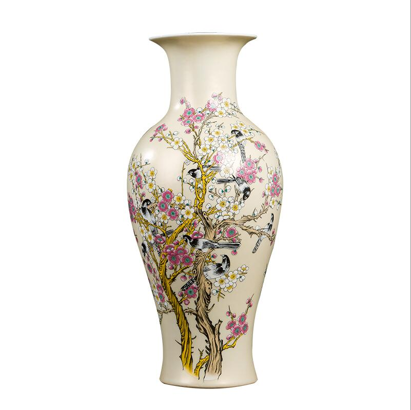 China scenic dezhen ceramic vase decoration exquisite pattern animal vase living room countertop vase home decoration