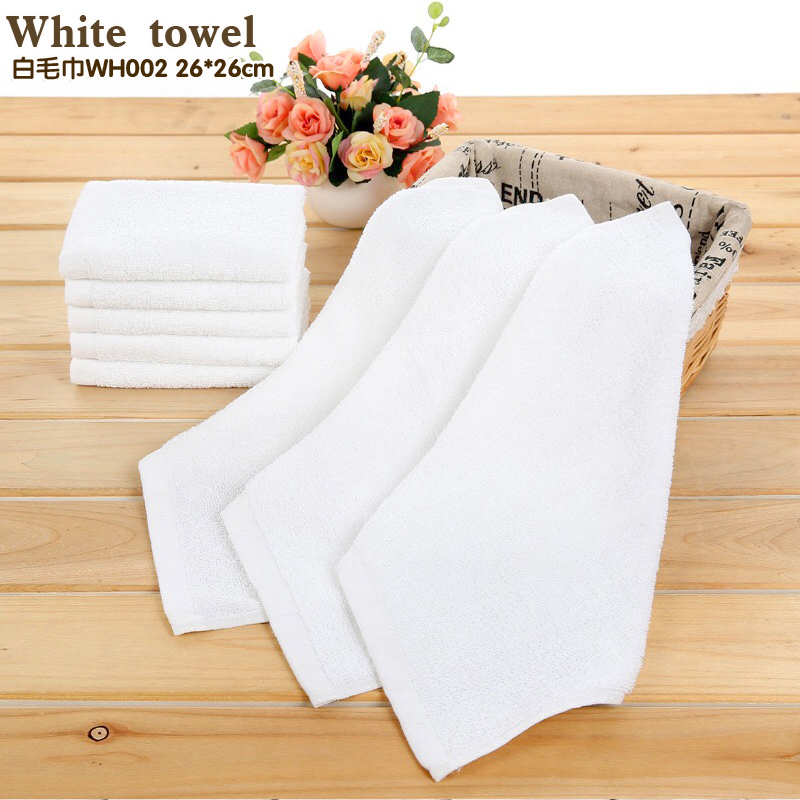 All cotton white 26*26 cm handkerchief The water is easy to clean small towel Clean cloth for men 1 bags, 20 pieces