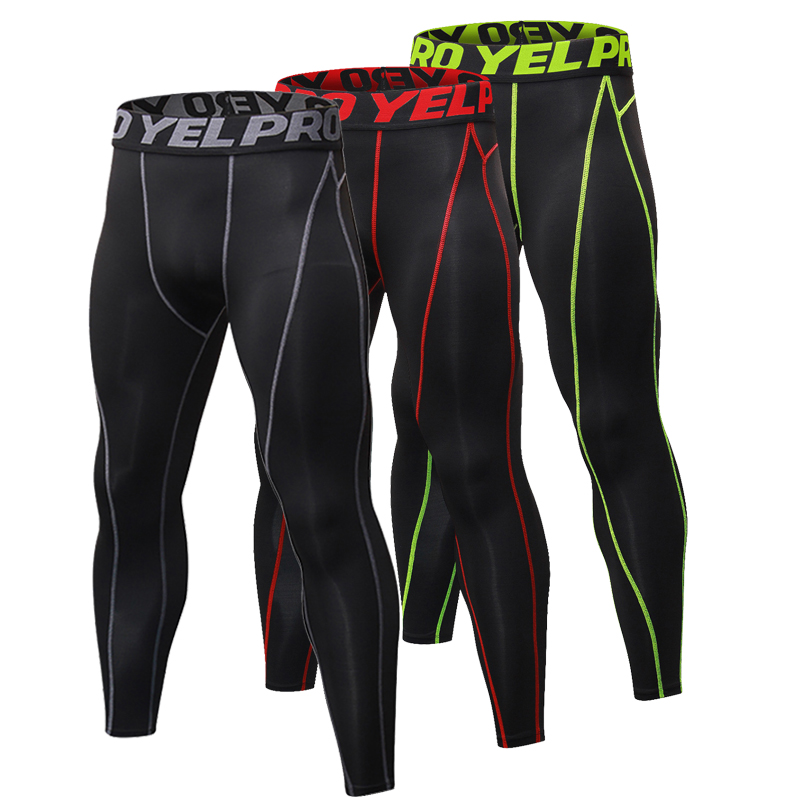 Yuerlian New GYM Compression Bodybuilding Pantalones Hombre Fitness Tights Pantalones de chándal para hombres Deporte Running Leggings