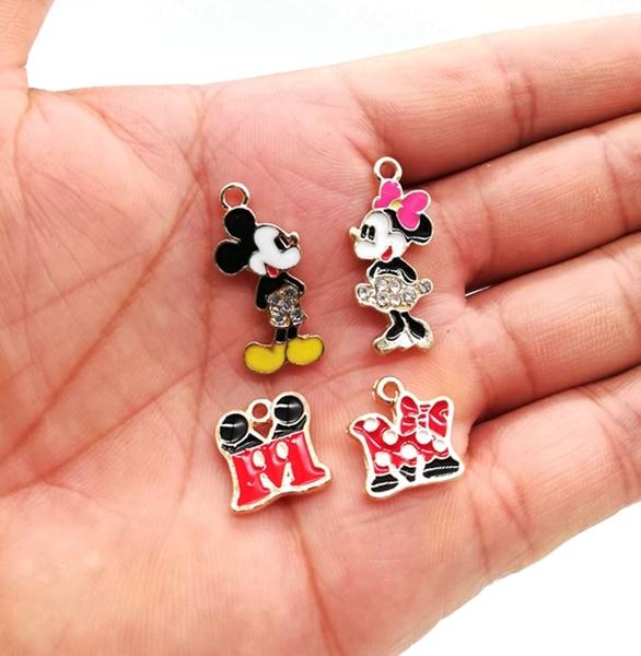 Lot Cartoon minnie head Metal Charms Jewelry DIY Making Pendants Accessories