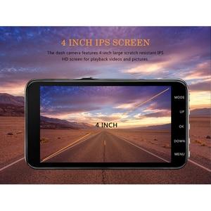 Image 5 - Cámara Auto DVR 4 pulgadas lente Dual Full HD 1080P Dash Cam grabadora de vídeo con cámara de visión trasera grabador de visión nocturna DVRs