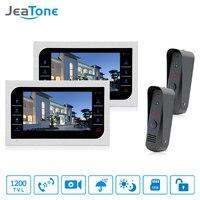 JeaTone Door Access Control 10 LCD Display Video Doorbell Door Phone 1200TVL Home Security Camera Intercom