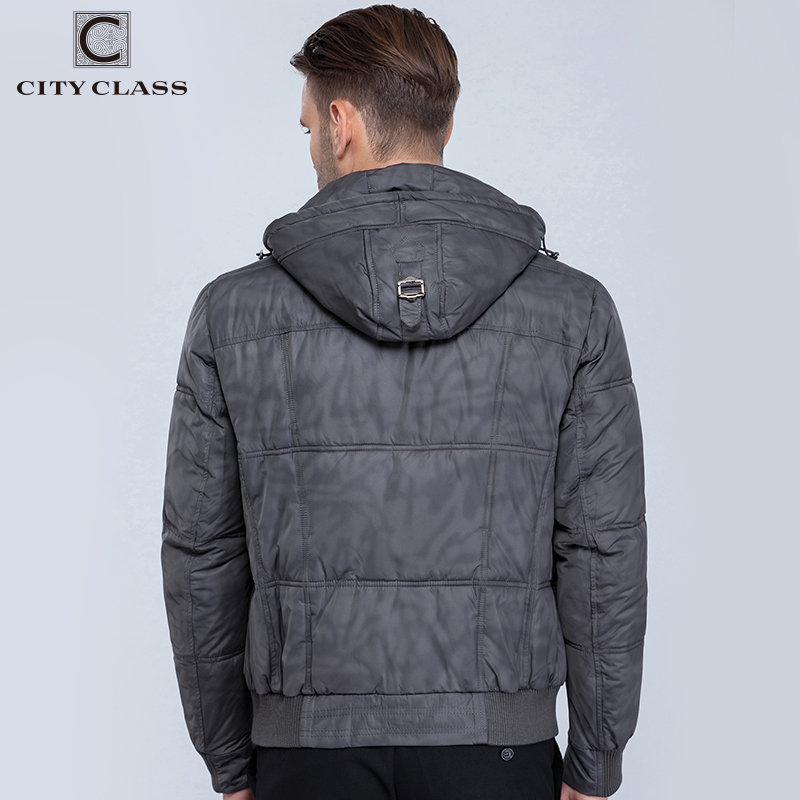 CITY CLASS Nya herrar vinter jackor mode fritid hatt kort - Herrkläder - Foto 4