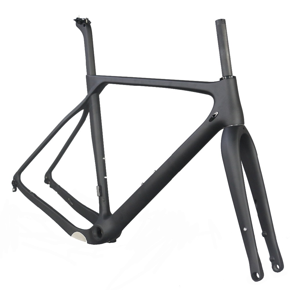 Carbon Fiber Bicycle Frame GR030 Flat Mount Disc Brake  Frames Accept Custom Design Paint