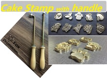 700 Cake Baking stamp Brand Handle 8mm Burning Mold Stamp on Cake Cookie Sweets,Iron Brass Mold Burning Handle,Custom Design