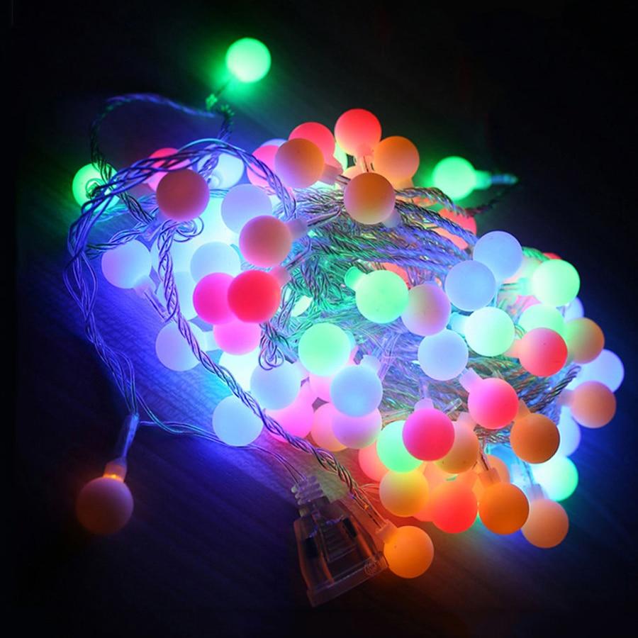 Thrisdar 20M 200 Globe Ball LED String Fairy Lights Garden Patio Party Christmas Wedding New Year Indoor&outdoor Decoration