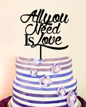 All You Need is Love,Wedding Decoration Personalised Cake Toppers,Modern Anniversaire Party Decoration Custom Cake Toppers