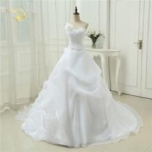 Vestido De Noiva A line One Shoulder Bridal Applique Lace Organza Robe De Mariage Vintage Wedding