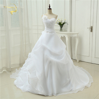 Cheap Price Good Quality 2014 New Arrival Free Shipping Beading Sweetheart Applique White Ivory Wedding Dresses