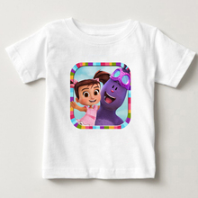 цена на Kate and mim mim 3D Printed children t - shirts 3T-8T boys and girls cartoon T-shirt, pure cotton breathable children's clothing