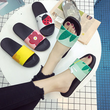 купить Women Slippers Non-slip Indoor Home Bee Slippers Lovely Ladies Casual Outdoor Beach Flip Flops Summer Slides по цене 153.77 рублей