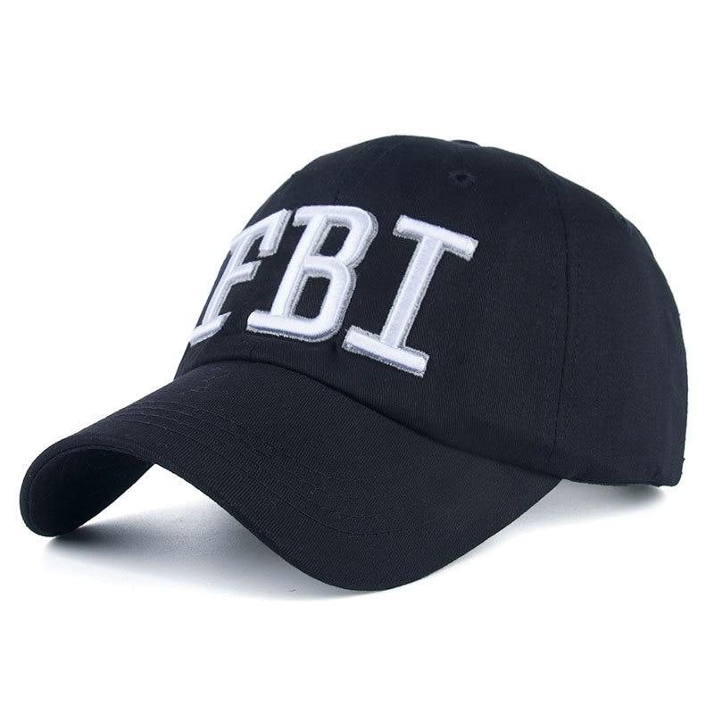Mens Baseball Cap FBI ArmyT Tactical Snapback Hat Unisex Casual Hip Hop Embroidery Gorras Cap Cotton Adjustable Bone Hat бейсболк мужские