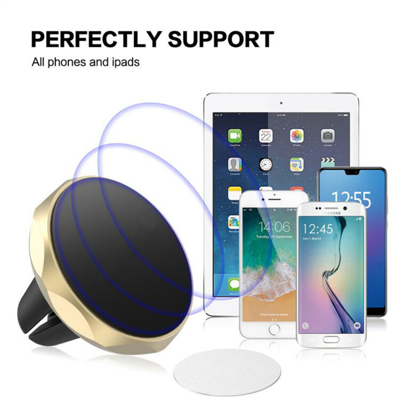 Mount Magnet Car Air Vent Mobile Phone Holder For iPhone Samsung Magnetic 360 Degree Stand Holder For Xiaomi Pocophone F1 Huawei in Phone Holders Stands from Cellphones Telecommunications