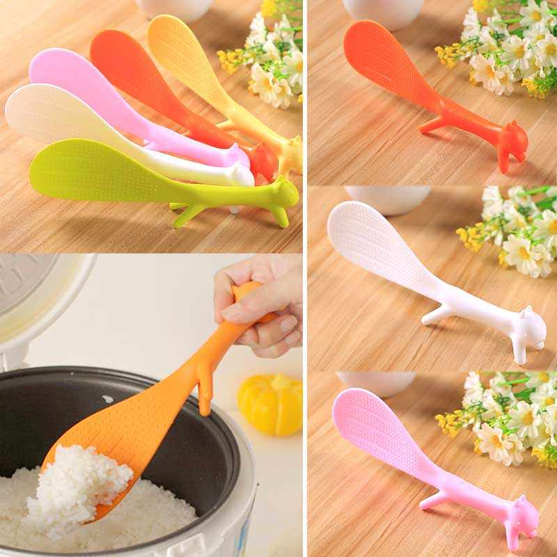 Non-sticky Rice Creative Gadgets Kitchen Squirrel Shaped  Cute Scoops