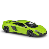1:24 Simulation alloy sport car model toy For MCLAREN 675LT with Steering wheel control front wheel steering toy for Children